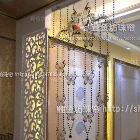 不锈钢珠帘 隔断 背景墙 个性装饰 金属帘 不锈钢蝴蝶 银色蝴蝶
