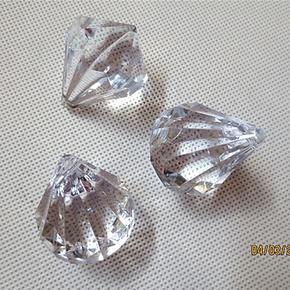亚克力水晶吊坠diy珠帘珠子30X37mm角珠 服饰辅料 散珠 压克力珠