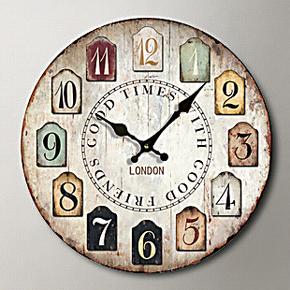 65元特价包邮 创意挂钟时钟挂表田园欧式时尚装饰钟表 壁钟