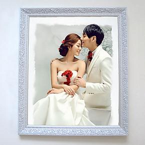 包邮24-30-36-40寸实木相框油画结婚纱挂墙放大照片制作促销儿童