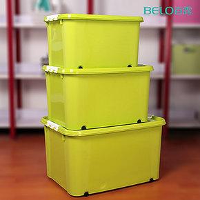 14省2个包邮亏本特价超大加厚带轮塑料整理箱收纳箱收纳盒储物箱