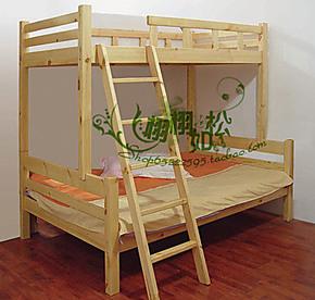 广州全实木松木家具宜家节省空间儿童上下铺双层高低子母床可定制