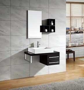 帝王洁具YKL-Z3库珀挂式彩色亚克力台面木质柜浴室柜卫浴柜N1镜2