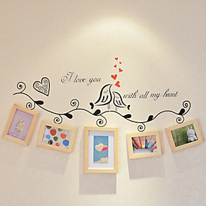 欧曼 5框实木松木照片墙相片墙相框墙组合 客厅楼梯画框墙框包邮