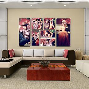 个性定制至尊7件套婚纱影楼大相框皮雕背景照片墙相框照片墙