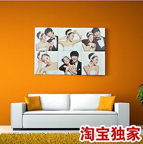 影像派#独家 !时尚皮雕皮革照片墙组合婚纱相片墙 创意软包