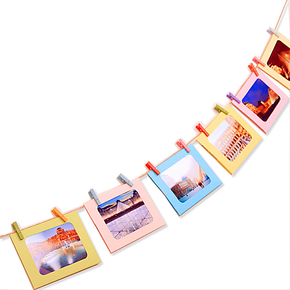 6 7寸创意 儿童组合宝宝照片墙 悬挂式纸质相框相框墙 特价 包邮