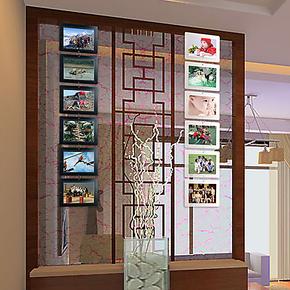 特价 悬挂式照片墙相框 屏风墙贴照片框儿童房装饰宝宝相框6寸6框