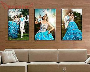 002款 水晶版画照片墙 拉米娜 相框 照片制作 相片 大韩 木 摆台