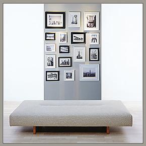 多色可选 可挂瓷砖玻璃 实木照片墙 相片墙组合相框墙(竖放/竖型)