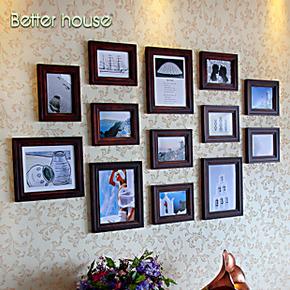 百特好照片墙欧式地中海实木相框墙创意组合相框墙SH-1303