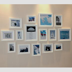 百特好 照片墙相框墙 奢爱15框 实木相片墙 组合创意生活照