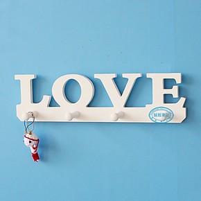 特价田园英文LOVE镂空壁挂衣架 创意墙上装饰支架 简约墙壁架搁板