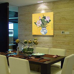 鞋柜装饰画走廊过道壁画餐厅墙画古典荷花卧室床头挂画餐厅无框画