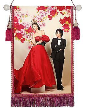 照片制作创意挂毯 影楼挂毯儿童挂毯婚纱挂毯 结婚创意礼物照片墙