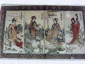 手工真丝挂毯尺寸和图案可定做真丝壁毯:100*61CM