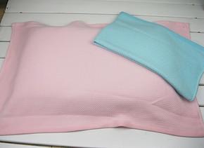 竹纤维编织防滑立体按摩枕巾正品特价枕头巾枕套厂家批发透气抗菌