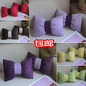 包邮汽车头枕骨头枕护颈枕 可爱对装 蝴蝶枕头靠车用套装2个热卖