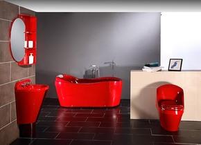 PK帝王席玛亚克力冲浪按摩浴缸整体卫浴柜浴室柜坐便器马桶
