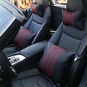 汽车抱枕四件套 车用抱枕 头枕腰垫 颈枕护颈 特价 内饰高档用品