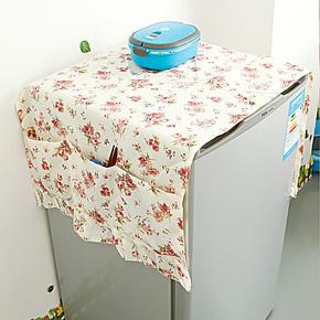 居家家 韩式田园多功能冰箱防尘罩 冰箱收纳挂冰箱收纳袋K1710