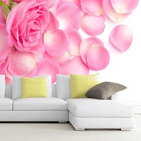 艾美大型壁画 唯美花卉 卧室背景壁画 电视背景壁画 现代简约壁纸
