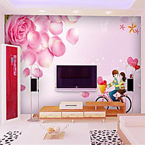 艾唯美 大型壁画墙纸/壁纸/沙发卧室床头背景墙/浪温玫瑰花i231