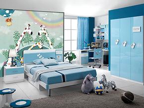 儿童卡通壁纸画/电视背景墙定制/卧室墙壁画/动画无纺布壁画壁纸