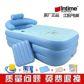 盈泰沐浴盆桶折叠充气浴缸成人洗澡桶泡澡木桶 塑料浴池保暖浴缸