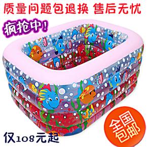乐亲正品婴儿游泳池 充气宝宝洗澡池 儿童戏水池浴缸 双人婴儿池