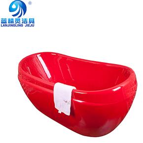 高品质亚克力彩色独立式浴缸 压克力浴盆 独立式小浴缸1.2m\1.5m