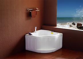 亚克力/压克力五件套按摩浴缸小户型三角缸扇形浴缸浴盆1米