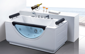 特价;亚克力/珠光板/按摩浴缸珍珠白冲浪按摩缸1.4  1.5