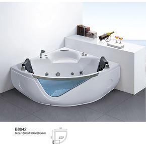 亚克力珍珠白珠光板按摩浴缸五件套浴缸龙头浴缸1.5单人