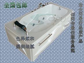 珍珠白珠光板亚克力按摩浴缸冲浪浴缸五件套龙头浴缸单人1.5/1.7