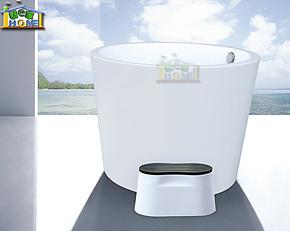 1.1米超高深浴缸 压克力亚克力浴缸 独立式圆形浴缸8869