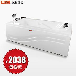 心海伽蓝 方形纯亚克力浴缸 双裙边浴缸龙头 空缸浴盆WX290102