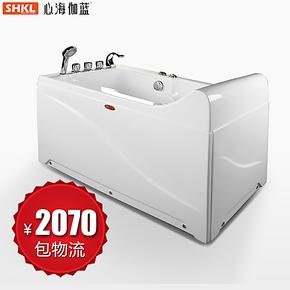 心海伽蓝 1.3米纯亚克力浴缸五件套单人按摩冲浪浴缸WX290103特价