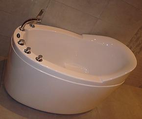【法恩莎卫浴正品】五件套亚克力浴缸独立FW007Q1.3米