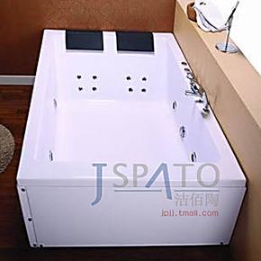 洁佰陶卫浴1.8米长方形欧式双人冲浪按摩浴缸亚克力ABS板 JS-8004