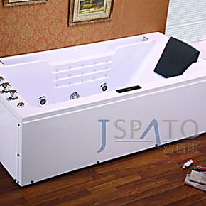洁佰陶卫浴 1.8米豪华欧式单人冲浪按摩浴缸 亚克力ABS板 JS-8005