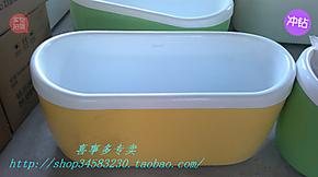 特价压克力/亚克力浴缸保温彩色独立小浴缸小圆宽1米-1.3米60高62