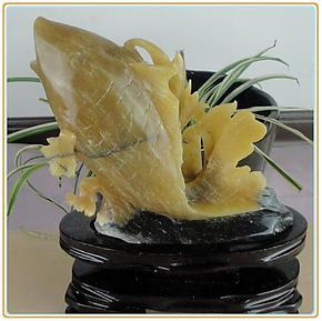 天然玉石鱼摆件岫玉花料鱼摆件A货正品天然色玉饰品礼品一图一物