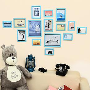 特价!环保15框几米组合相片相框照片墙 创意居家 儿童房照片墙
