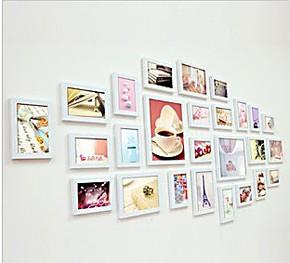 26框相框墙照片墙相片墙创意组合宜家装饰餐客厅时尚非主流墙贴