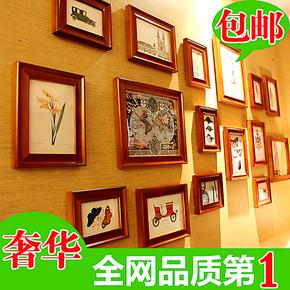 欧式奢华宜家大尺寸宽边照片墙 相片墙组合 实木相框墙 像框 画框