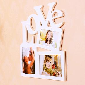 宜家影楼婚纱6 7寸 欧式创意组合挂墙式相框连体照片墙相架照片墙
