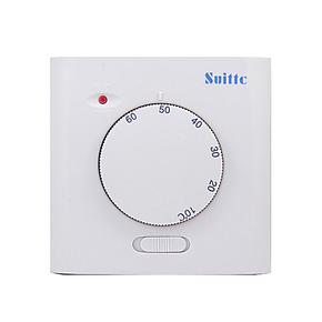 SUITTC鑫源温控器电子式电采暖电热膜电暖气温控器地热开关-明装