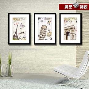装饰画欧式 客厅挂画现代简约墙上四联画 餐厅挂画卧室床头壁画