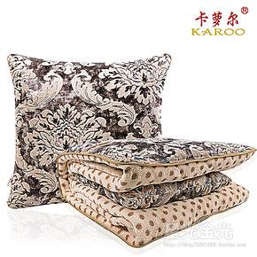 高档珊瑚绒 车用折叠 抱枕被子两用靠垫 大号多功能 汽车空调被